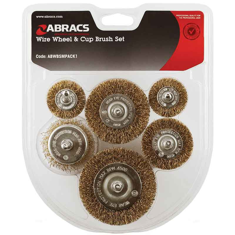 6pc Spindle Mounted Brush Pack